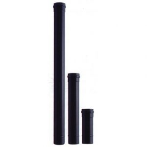 Rookkanaal ø 80mm RVS 0,5mm zwart 50 cm